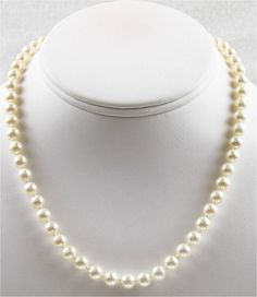 Items similar to 16 inch AAA 7 to Cultured Freshwater Pearl Necklace on Etsy Freshwater Pearl Necklaces, Fresh Water, Jewlery, Pandora, Culture, Pearls, Etsy, Jewelry, Bijoux