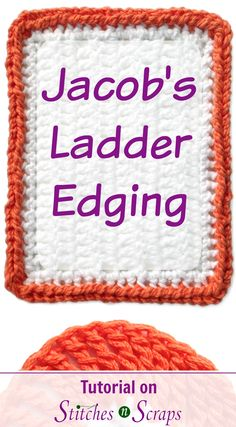 I love the chunky, braided look of Jacob's Ladders. Learn how to make this bold, crocheted edging on in this tutorial! The Jacob's Ladder edging is the last in a 6 week series of crochet edging tutorials.