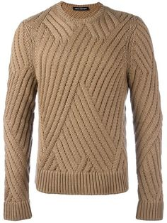 """"" Men's Designer Sweaters 2019 """" Shop Neil Barrett crew neck jumper . Mens Knit Sweater Pattern, Sweater Knitting Patterns, Sweater Design, Knitting Designs, Men Sweater, Crewneck Sweater, Cute Outfits With Jeans, Outfits Casual, Mode Outfits"