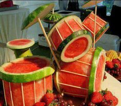 I LOVE WATERMELON!!!!! Drummers.... Maybe once they stop trying to twirl their sticks and then dropping them on a cymbal...