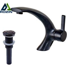 Free Shipping Single Hole Basin Faucet Oil Rubbed Bronze Finished Bathroom sink Mixer Taps With  Pop Up Drain