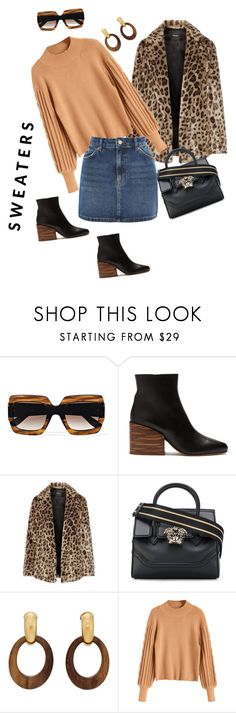 """""""Untitled #119"""" by anamariabaciu ❤ liked on Polyvore featuring Gucci, Gabriela Hearst, Theory, Versace, Goossens and Topshop"""