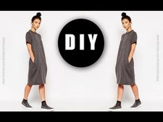 How To | DIY : Cocoon Maxi Dress w/ POCKETS!! - YouTube