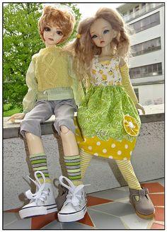 2BeautiesInSpringtime   von Kaeferchens Puppenwelt