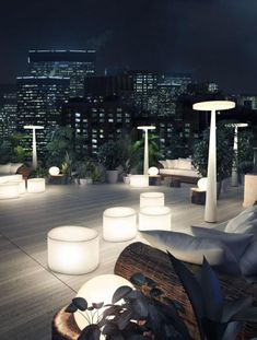 Outdoor lighting from Prandina. Find out more at… -- Article ideas / Terrace Ideas For Articles on Best of Modern Design - So many good things! Outdoor Floor Lamps, Outdoor Flooring, Outdoor Lighting, Outdoor Decor, Rooftop Lighting, Pergola Lighting, Outdoor Seating, Lighting Ideas, Terrasse Design