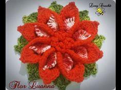 Flor Luanna em Crochê - YouTube