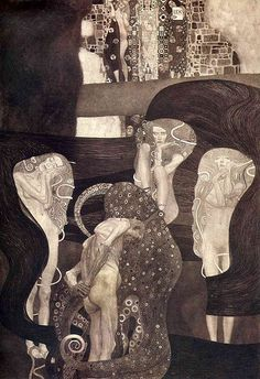 Gustav Klimt - 'Jurisprudence' University of Vienna Ceiling Paintings