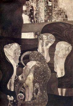 Gustav Klimt - 'Jurisprudence' University of Vienna Ceiling Paintings