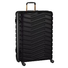 Make It Mine Hardsided Spinner, Black Checked, Neon Yellow, Gold - Backpacks + Luggage - Luggage + Duffle Bags Teen Luggage, Cute Luggage, Hard Sided Luggage, Cute Suitcases, Emily And Meritt, Gold Backpacks, Trolley Case, Duffle Bag Travel, Duffle Bags