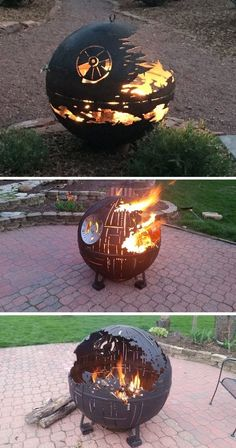 Instead of destroying planets, these Death Stars are designed to roast marshmallows. firepits backyard Star Wars Inspired Death Star Fire Pits Are Handcrafted With the Force