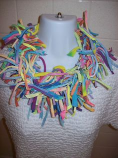 Recycled T Shirt Scarf Tie Dyed Pastels by LonestarFashions, $18.00