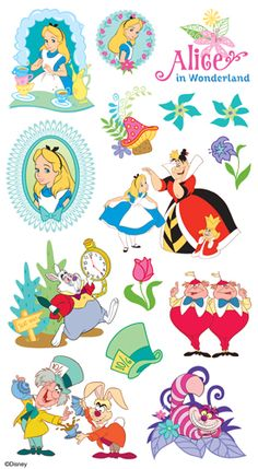 EK Success - Disney Collection - Classic Stickers - Alice in Wonderland
