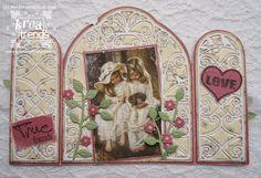 gemaakt door Henriette Vintage World Maps, Doors, Cards, Map, Playing Cards, Doorway, Maps, Gate