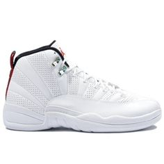Air Jordan 12 (XII) Rising Sun White Black Varsity Red 130690-163 $58