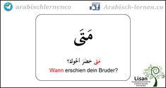 """""""Wann?""""  Arabisch-deutsch  arabisch lernen"""