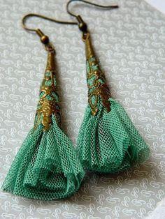 DIY - Fabric earring