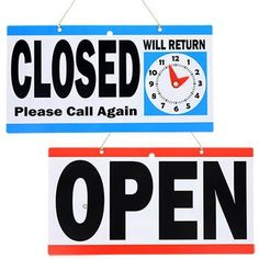 Open/Closed Clocks Signs, in. Desktop Accessories, One Sided, Dollar Tree, Clocks, Preschool, Signs, How To Make, Products, Kindergarten