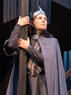 "Kate Konigisor, seen here in a brilliant performance as the title character in an all-female version of ""Macbeth."""