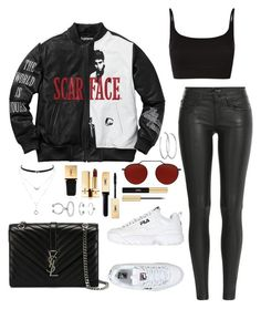 """Sans titre #737"" by charliesclothes ❤ liked on Polyvore featuring The Kooples, Fila, ATM by Anthony Thomas Melillo, Yves Saint Laurent, Jessica Simpson, NEST Jewelry, Maria Francesca Pepe and Illesteva"