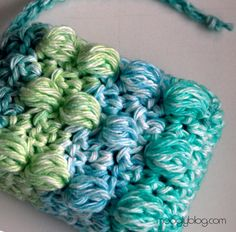 Free crochet soap saver or soap sack pattern. Would be a pretty and useful way to give a gift of hand made or homemade soap. Uses about 40 yards worsted weight cotton yarn. Directions for the pampering massage version (shown with bumps) or a flat variation.