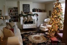 "Love this Christmas House Tour by Holly Matthis on ""Room Tours"""
