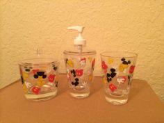 mickey mouse bathroom accessory set