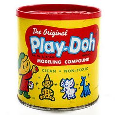 I buy playdough for friends kids just so I can play with it.  Love the smell.