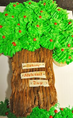 Johnny Appleseed Cupcake Cake