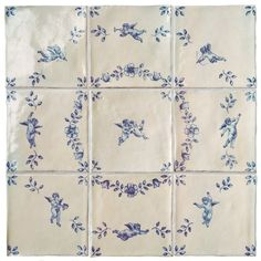 Beautifully crafted hand painted English wall tiles manufactured in Marlborough UK and exceptional European Floor Tiles Decor, Decorative Tile, Tile Panels, Tiles, Cottage Style, Paneling, Blue Inspiration, Wall And Floor Tiles, Marlborough Tiles