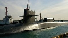 Breaking News: USS Michigan nuclear submarine docks in Busan port, South...