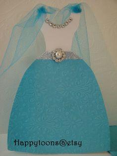 Gefroren Einladung Frozen Dress Einladung Einladung von HappyToons
