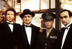 Titles: The Godfather  Names: Marlon Brando, Al Pacino, James Caan, John Cazale  Characters: Michael Corleone, Vito Corleone, Santino 'Sonny' Corleone, Fredo Corleone, Don Michael Corleone, Santino 'Sonny' Corleone