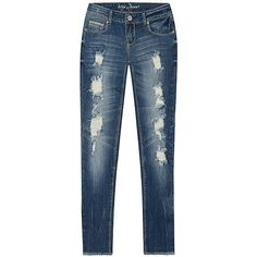 Ariya Jeans Vintage Distressed Skinny Jeans (95 BRL) ❤ liked on Polyvore featuring jeans, plus size, distressed skinny jeans, distressed jeans, stretch skinny jeans, plus size destroyed skinny jeans and ripped jeans