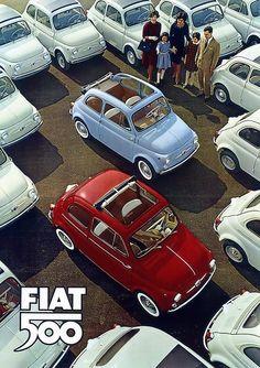 Super Ideas For Vintage Cars Retro Fiat 500 Fiat 500c, Fiat Abarth, Fiat Cinquecento, Ferrari, Maserati, Velo Vintage, Vintage Cars, Luxury Sports Cars, Sport Cars
