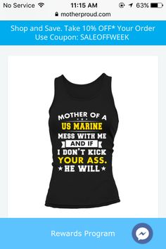 That's right! Marine Corps, Marine Life, Marine Mom Quotes, Marines Boot Camp, Cricut, Motivation, Tank Tops, Tattoos, Shopping