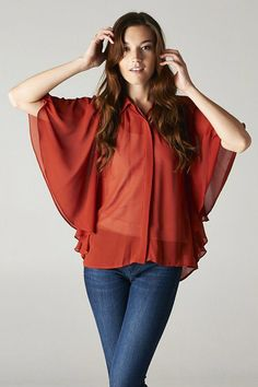 Misha Flutter Top in Spice
