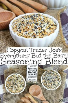 DIY Copycat Trader Joe's Everything But the Bagel Seasoning blend recipe. This homemade version includes the ingredients and ideas / uses to make recipes at home! The perfect dupe. / Running in a Skirt #everythingbagel #traderjoes #everythingbagelseasoning #recipe #healthy #healthyliving via @juliewunder Taco Spice Mix, Spice Mixes, Spice Blends, Homemade Spices, Homemade Seasonings, Homemade Recipe, Teen Homemade, Homemade Food, Trader Joe's