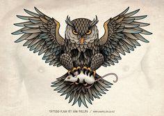 Sams Blog: Owl Chest Piece Tattoo