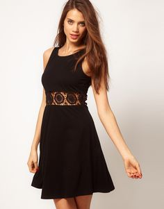 ASOS Skater Dress with Cut Out Waist