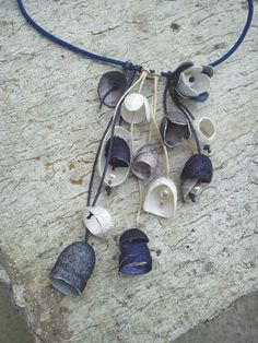 hand made silk cocoons jewelry - necklace No35