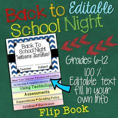back to school night pamphlet brochure template open house parent open house open house and parents