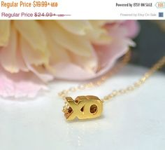 ON SALE XO Necklace Uppercase - Silver Xo Necklace, Gold xo Necklace, Rose Gold xo Necklce, Love Necklace, Bridal Jewelry, bridesmaid neckla by DaniqueJewelry on Etsy https://www.etsy.com/listing/101089486/on-sale-xo-necklace-uppercase-silver-xo
