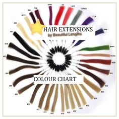 Colour chart Beautiful Lengths, Hair Extensions For Sale, Colour Chart, Color, Red And Pink, Colour, Colors