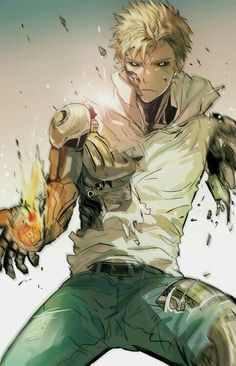 one punch man- saitama Saitama, Fanart Manga, Manga Art, Manga Anime, Rin Okumura, Anime Boys, Anime One Punch Man, Art Alien, Estilo Anime