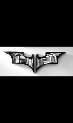 Amazing Batman Symbol Bookshelf