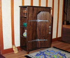 Wardrobe Cabinet Medieval Dollhouse Miniature 1/12 by CalicoJewels, $79.00
