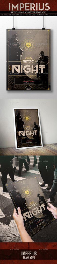 Retro Night V23 Flyer