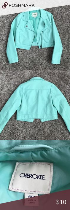 Pleather mint jacket Cool mint jacket Cherokee Jackets & Coats