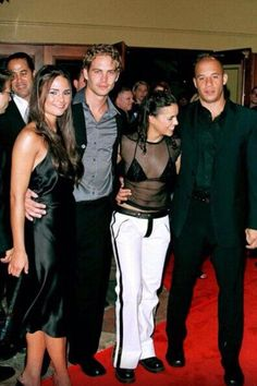 """""""Fast and the Furious"""" World Film Premiere, Los Angeles. the Cast L to R Jordana Brewster, Paul Walker, Michelle Rodriguez, Vin Diesel Paul Walker Photos, Paul Walker Tribute, Rip Paul Walker, Fast And Furious Actors, Dom And Letty, Dominic Toretto, Furious Movie, Flavio, Ludacris"""