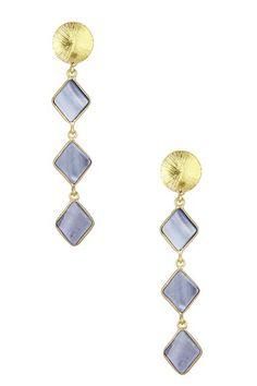 Mother of Pearl Triple Drop Earrings by Saachi on @HauteLook